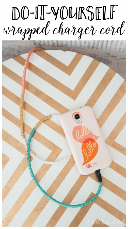 DIY Wrapped Charger Cord - Fancy Up Your Phone!